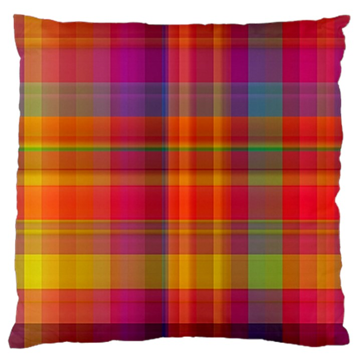 Plaid, Hot Standard Flano Cushion Cases (One Side)