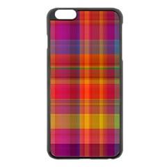 Plaid, Hot Apple Iphone 6 Plus Black Enamel Case