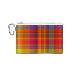 Plaid, Hot Canvas Cosmetic Bag (S)