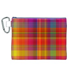 Plaid, Hot Canvas Cosmetic Bag (XL)