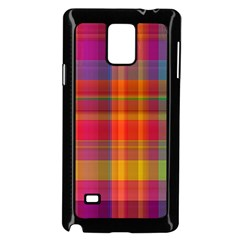 Plaid, Hot Samsung Galaxy Note 4 Case (Black)
