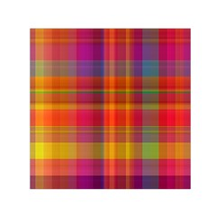 Plaid, Hot Small Satin Scarf (Square)