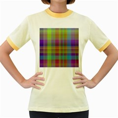 Plaid, Cool Women s Fitted Ringer T-Shirts