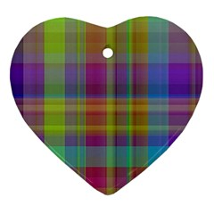 Plaid, Cool Heart Ornament (2 Sides)