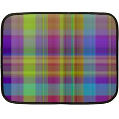Plaid, Cool Double Sided Fleece Blanket (mini)