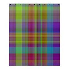 Plaid, Cool Shower Curtain 60  x 72  (Medium)