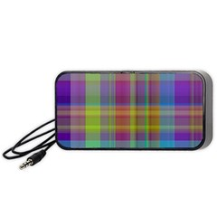 Plaid, Cool Portable Speaker (black)