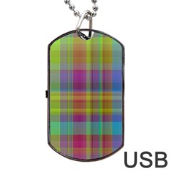 Plaid, Cool Dog Tag USB Flash (Two Sides)
