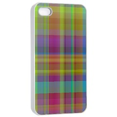 Plaid, Cool Apple iPhone 4/4s Seamless Case (White)