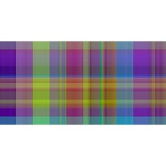 Plaid, Cool YOU ARE INVITED 3D Greeting Card (8x4)