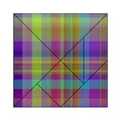 Plaid, Cool Acrylic Tangram Puzzle (6  x 6 )