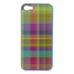 Plaid, Cool Apple Iphone 5 Case (silver)