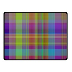 Plaid, Cool Double Sided Fleece Blanket (Small)