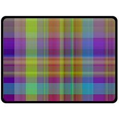 Plaid, Cool Double Sided Fleece Blanket (large)