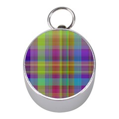 Plaid, Cool Mini Silver Compasses