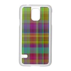Plaid, Cool Samsung Galaxy S5 Case (White)