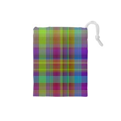 Plaid, Cool Drawstring Pouches (small)