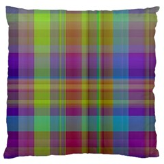 Plaid, Cool Large Flano Cushion Cases (one Side)