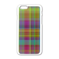 Plaid, Cool Apple Iphone 6 White Enamel Case