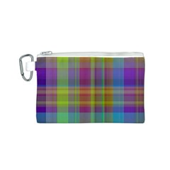 Plaid, Cool Canvas Cosmetic Bag (S)