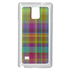 Plaid, Cool Samsung Galaxy Note 4 Case (White)