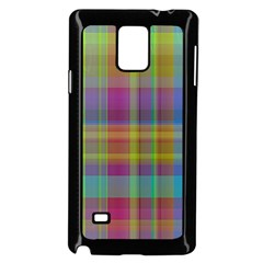 Plaid, Cool Samsung Galaxy Note 4 Case (Black)