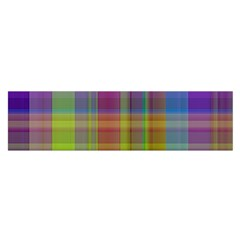 Plaid, Cool Satin Scarf (Oblong)