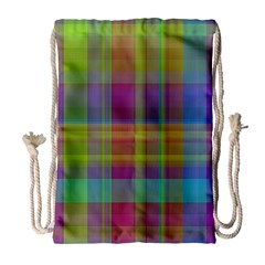 Plaid, Cool Drawstring Bag (Large)