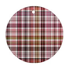 Plaid, Candy Ornament (round)