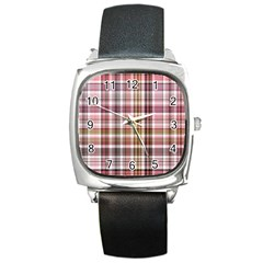 Plaid, Candy Square Metal Watches