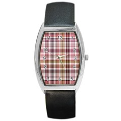Plaid, Candy Barrel Metal Watches