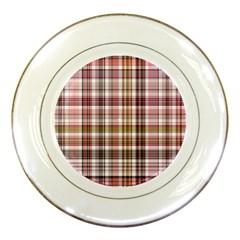 Plaid, Candy Porcelain Plates