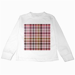 Plaid, Candy Kids Long Sleeve T-Shirts