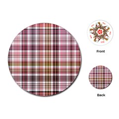 Plaid, Candy Playing Cards (Round)