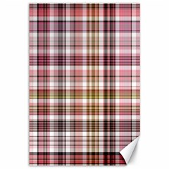 Plaid, Candy Canvas 12  X 18