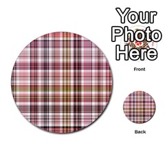 Plaid, Candy Multi Purpose Cards (round)