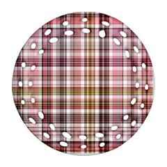 Plaid, Candy Ornament (Round Filigree)