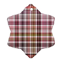 Plaid, Candy Snowflake Ornament (2-Side)