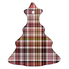 Plaid, Candy Christmas Tree Ornament (2 Sides)