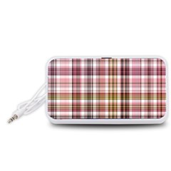 Plaid, Candy Portable Speaker (White)