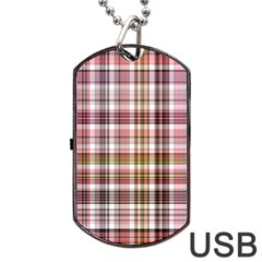 Plaid, Candy Dog Tag USB Flash (Two Sides)