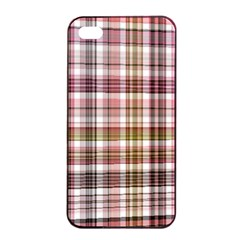 Plaid, Candy Apple iPhone 4/4s Seamless Case (Black)