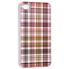 Plaid, Candy Apple Iphone 4/4s Seamless Case (white)