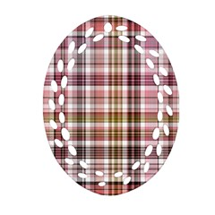 Plaid, Candy Ornament (oval Filigree)