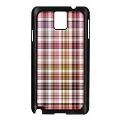 Plaid, Candy Samsung Galaxy Note 3 N9005 Case (black)