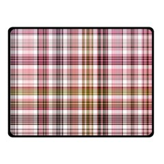 Plaid, Candy Double Sided Fleece Blanket (small)