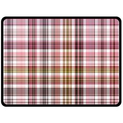 Plaid, Candy Double Sided Fleece Blanket (Large)