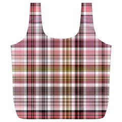 Plaid, Candy Full Print Recycle Bags (l)
