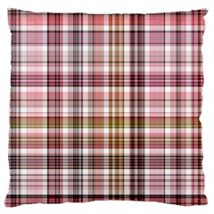 Plaid, Candy Large Flano Cushion Cases (One Side)