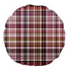 Plaid, Candy Large 18  Premium Flano Round Cushions